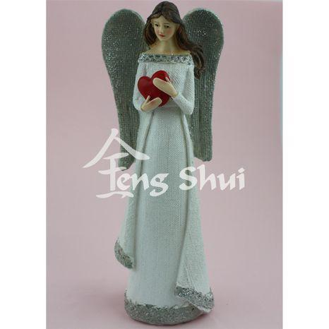 Anjel so srdcom výška 25 cm
